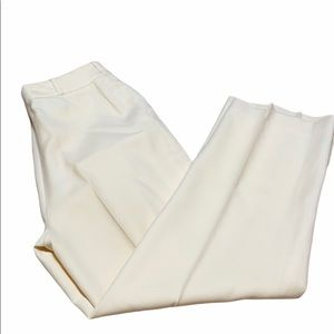 Harve Bernard 100% wool cream color trousers
